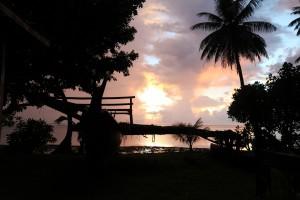 ヤップ島の朝焼けⅠ